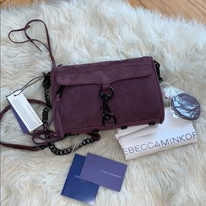 NWT Rebecca Minkoff Suede Mini MAC purse